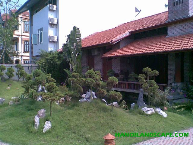 Sân vườn biệt thự anh Tuấn, TT Đông Anh