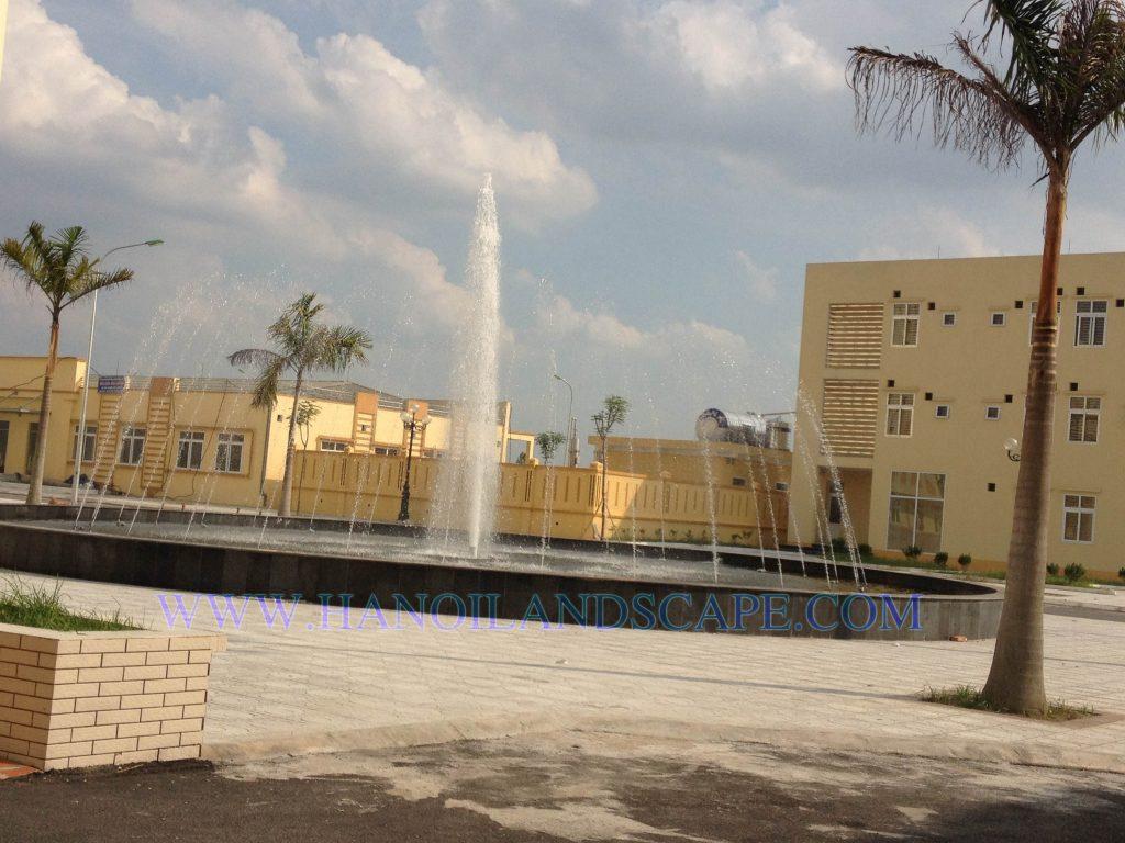 Đài phun nước Bệnh viện Đa khoa Mê Linh